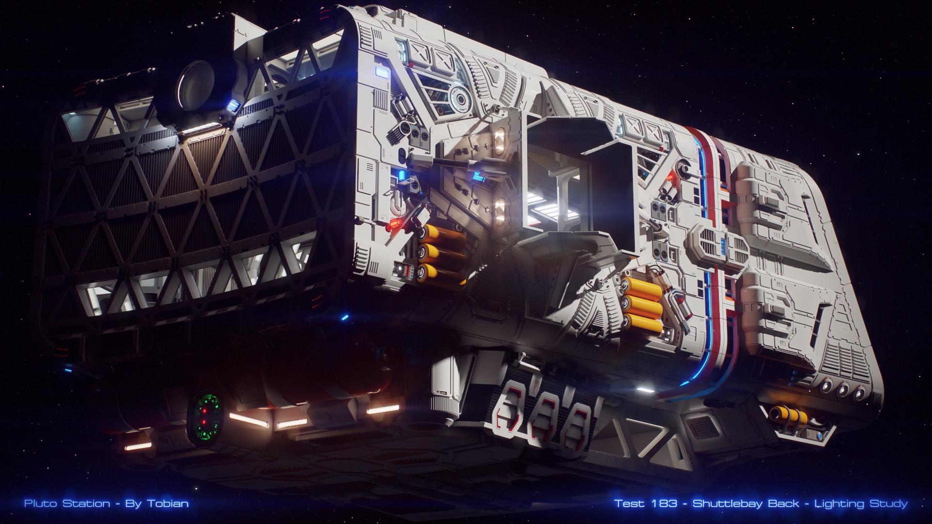Pluto Station – Shuttlebay Back – Lighting Study