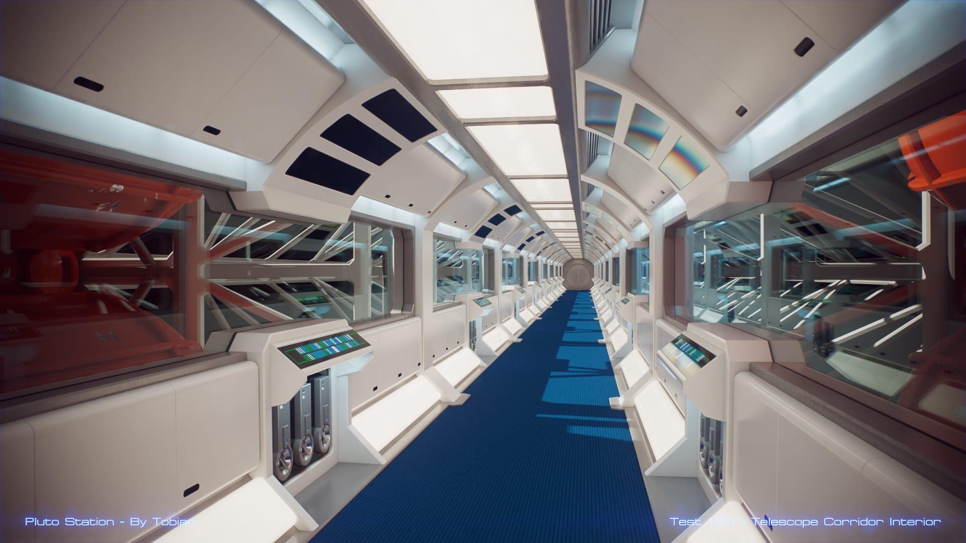 Pluto Station – Telescope Corridor Interior