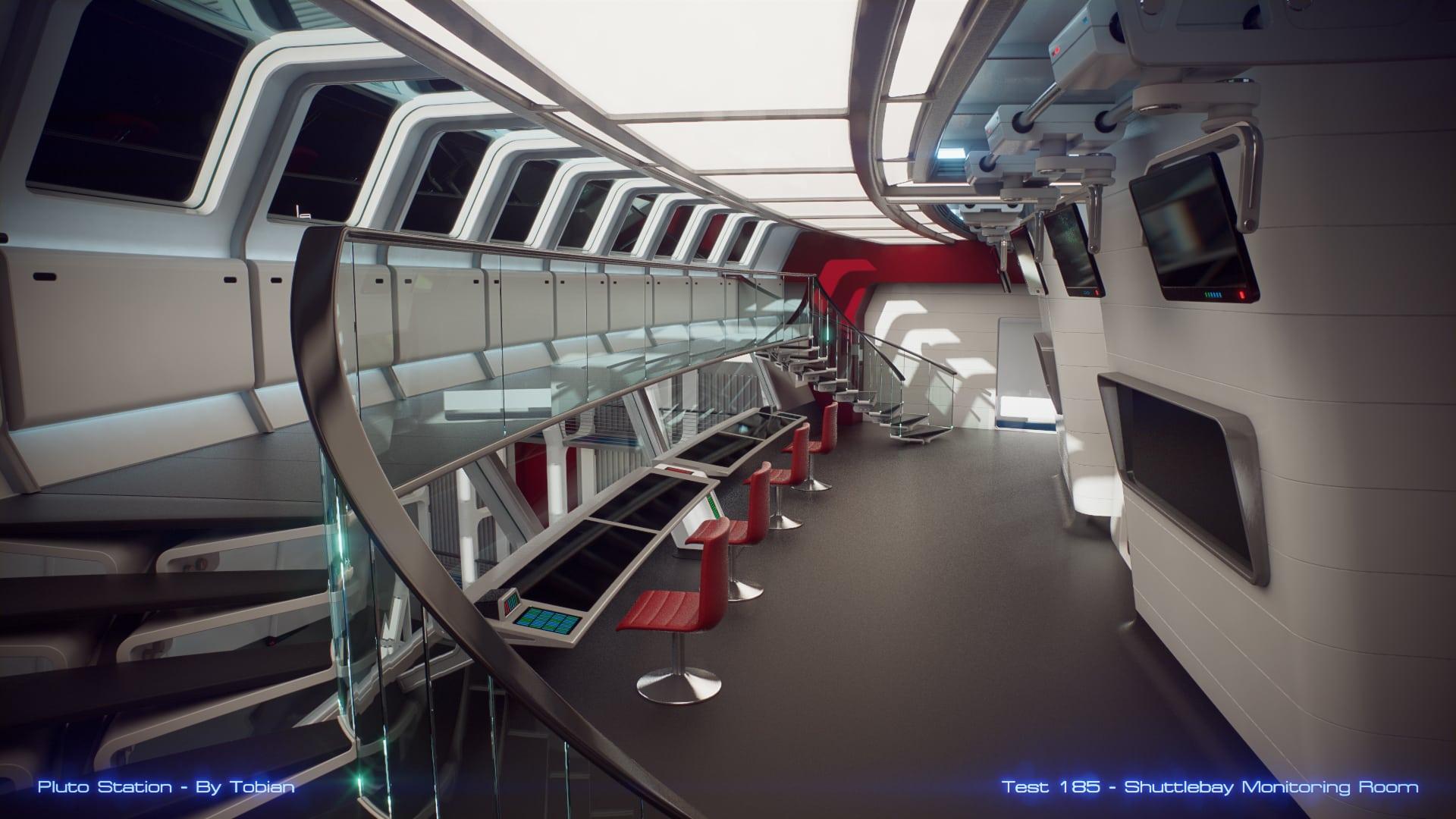 Pluto Station – Shuttlebay Monitoring Room