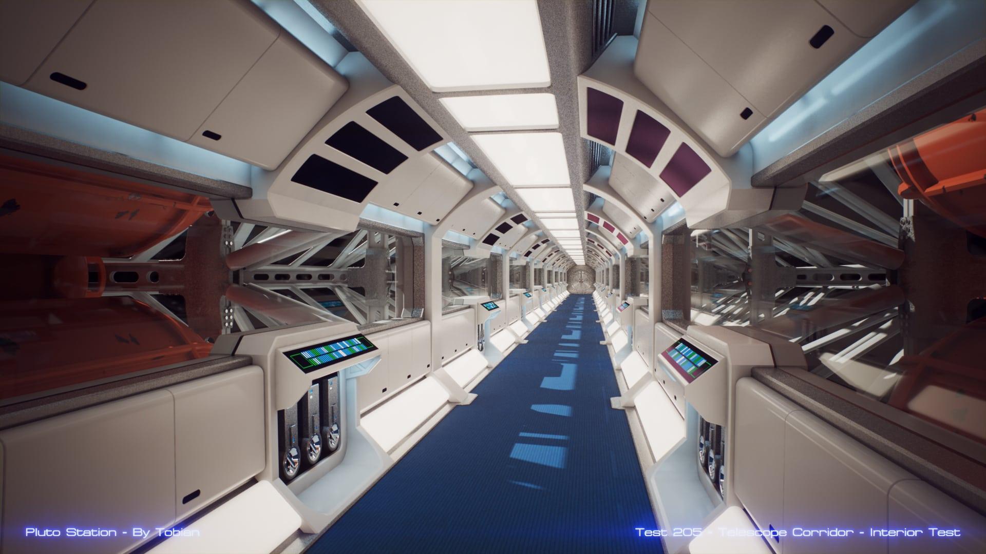 Finally a new test. The Telescope Corridor.